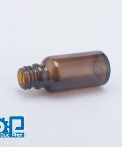 Chai tinh dầu màu nâu anodized nắp nhôm nhỏ giọt vàng sáng