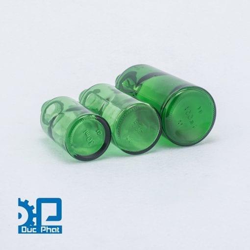 Chai tinh dầu xanh nhỏ giọt thủy tinh