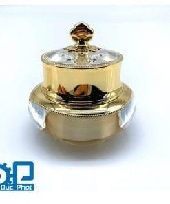 Vỏ hũ đựng kem mỹ phẩm Gold, white gold Luxury