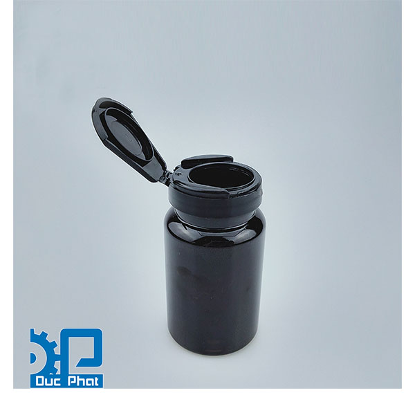 Nắp chai nhựa đen chai thuốc dược phẩm