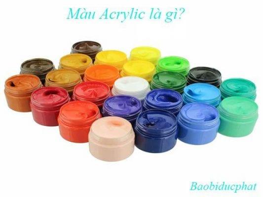 Màu Acrylic là gì?