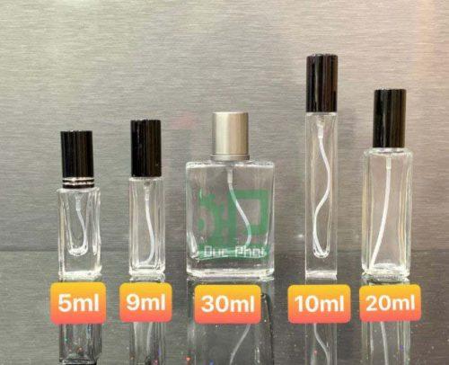 Các loại chai chiết nước hoa phổ biến trên thị trường hiện nay