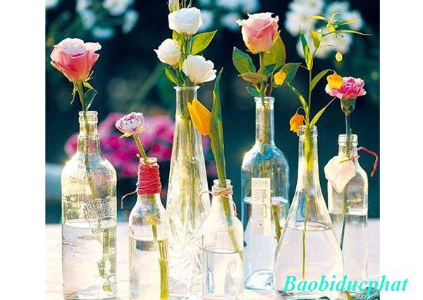 Bình thủy tinh đẹp được bán ở Hà Nội
