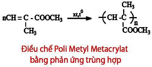 Cách điều chế Poli Metyl Metacrylat