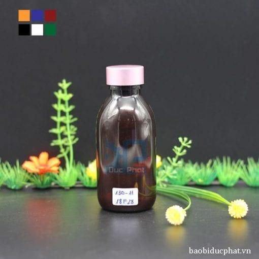 Chai dược phẩm nâu 130 ml (2)