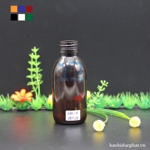 Chai dược phẩm nâu 130 ml