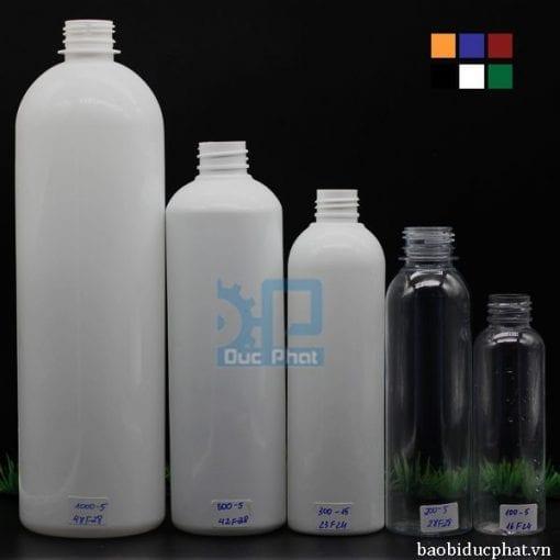 Chai nhựa 300ml tròn (9)