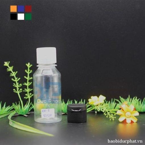 Chai nhựa nắp bật mini