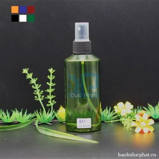 Chai pet mỹ phẩm xanh lá (3)