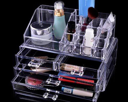 Hộp đựng mỹ phẩm giá tầng bằng nhựa