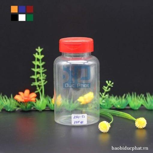 Lọ nhựa trong 250 ml (2)