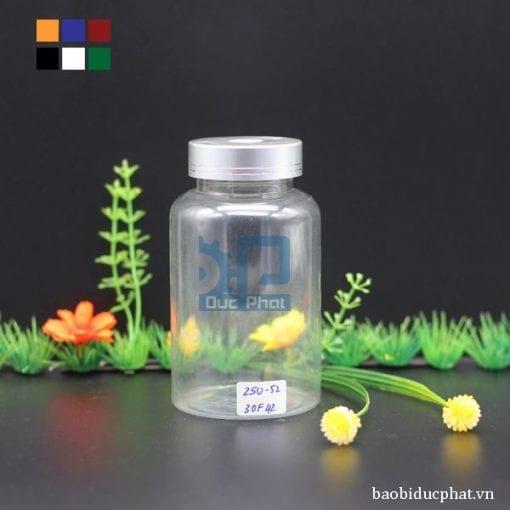 Lọ nhựa trong 250 ml