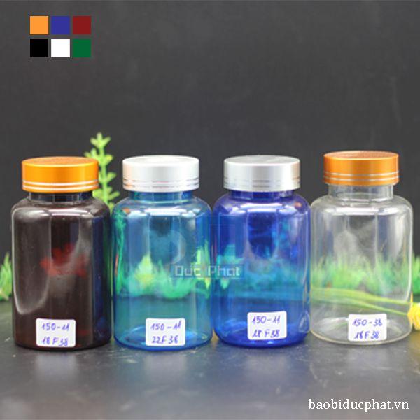 Lọ pet 150 ml màu tùy chọn (3)
