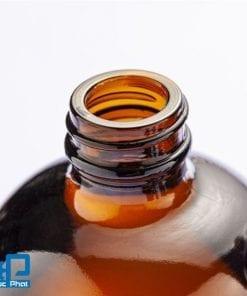 Chai màu hổ phách nắp tùy chọn vặn, xịt, bơm (2)