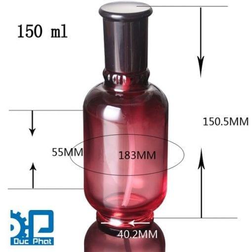 Chai mỹ phẩm đỏ đen (3)