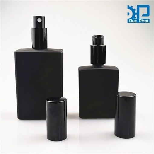 Chai nước hoa thủy tinh đen mờ (2)