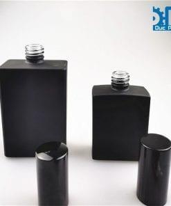 Chai nước hoa thủy tinh đen mờ (3)
