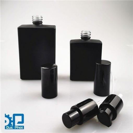 Chai nước hoa thủy tinh đen mờ (4)