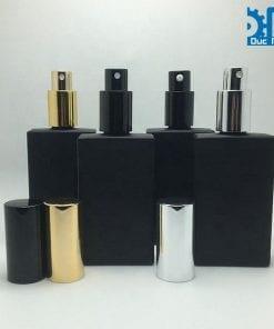 Chai nước hoa thủy tinh đen mờ (5)
