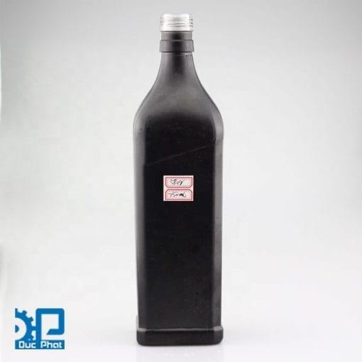 Chai thủy tinh đen đựng dầu ô liu (4)