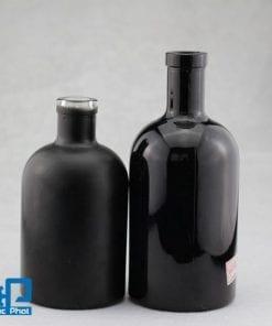 Chai thủy tinh đen đựng dầu ô liu (5)