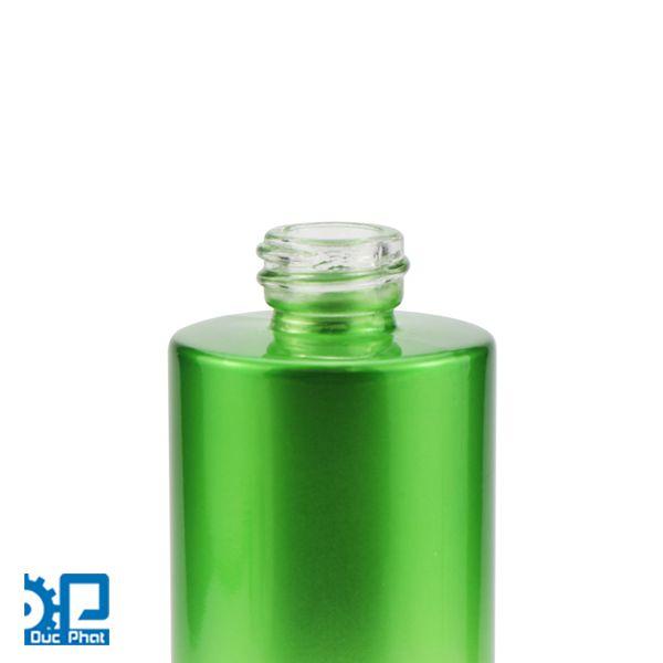Chai thủy tinh xanh lá (3)