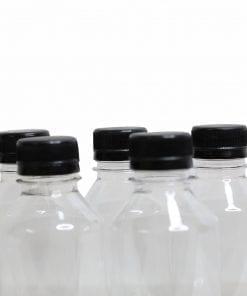 chai nhựa nắp đen
