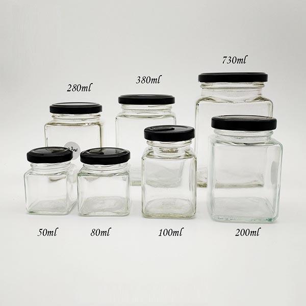 Hủ thủy tinh vuông có nắp đa dạng về thể tích